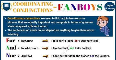 Coordinating Conjunction (FANBOYS): Useful Rules