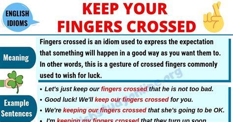 Fingers Crossed: Definition, Useful Examples & Synonyms