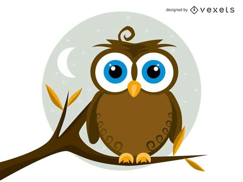 Isolated Vector Owl Illustration - Vector download