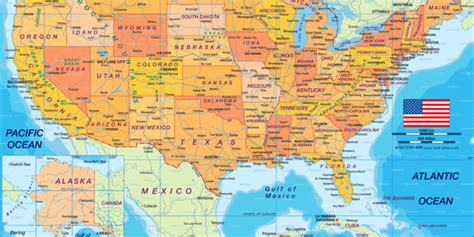 Map of USA politically (Country)   Welt-Atlas